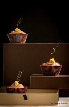 Caramel spiral cupcake