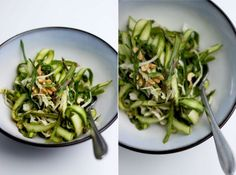 Cooking Recipes - Asparagus Salad and Sesame Chili Lime Dressing