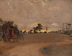 Tom Roberts - Her Majesty's Mail, O'Meara's Skipton Road 1889 8th Of March, Australian Artists, Impressionism, Toms, Gallery, Sketch, Painting, Heidelberg, Sketch Drawing