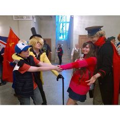 Gravity falls / Hetalia crossover. I'd love to see this actually get animated XD ((photo not mine)) -  #hetalia #anime #gravityfalls #2prussia #cosplay #hetaliacosplay #gravityfallscosplay StPetersburg #AkiCon2015 #АкиКон2015 #kawaii #cute  #animecosplay  #femcosplayer #cosplay #bipper #russia  #cosplayfied