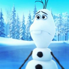 Olaf. Sad. Frozen. Disney. Cute.