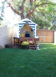 30 DIY Backyard Playground Landscaping Ideas - Page 11 of 30 Kids Backyard Playground, Backyard For Kids, Backyard Projects, Playground Ideas, Diy Projects, Backyard Ideas, Backyard Playhouse, Build A Playhouse, Backyard Fort