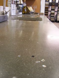 With your custom made concrete counter, options are endless and last a life time
