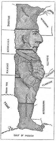 No Way ... Here's the man in the middle of US map. This is a good tool to help students remember where these midwestern states are located.