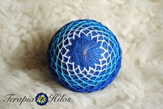 A hanging thread can be added to this item, either to a pole or to the equator, at no extra cost. Send a convo and well arrange it for you! This hand-made, embroidered ball based on an ancient Japanese craft, is made with recycled materials, including polyfiber stuffing, acrylic yarn and nylon and cotton threads. Symbolizing good luck and all the best wishes for you from the maker, it is the perfect decoration or gift for a loved one. Over a core of plastic and polyfiber stuffing…