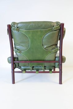 Pair of Mid-Century Modern Inca Chairs by Arne Norell image 5