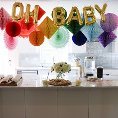 New baby shower balloons decorations babyshower party ideas ideas Baby Shower Photo Booth, Baby Shower Signs, Baby Shower Fun, Baby Shower Parties, Baby Shower Themes, Shower Ideas, Unisex Baby Shower, Baby Shower Balloon Decorations, Cheap Party Decorations