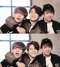 Mkane line 😍😍 😍 Jimin Jungkook, Bts Taehyung, Bts Bangtan Boy, Jikook, K Pop, Naughty Kids, Bts Maknae Line, Les Bts, Army Love