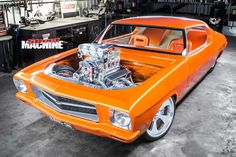 A good thing can always be made better, as Shaun Horton proves with this wilder-than-wild Tangarine Orange Holden HQ Monaro Australian Muscle Cars, Aussie Muscle Cars, American Muscle Cars, Custom Muscle Cars, Custom Cars, Hq Holden, Holden Kingswood, Holden Muscle Cars, Holden Australia