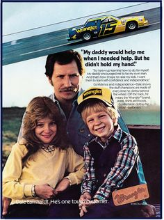 Cool pic of the Earnhardt family in a Wrangler ad from the early 80s