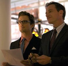 White Collar's Neal and Peter as they were assuming other identities