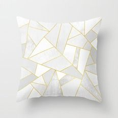 Throw Pillow featuring White Stone by Elisabeth Fredriksson