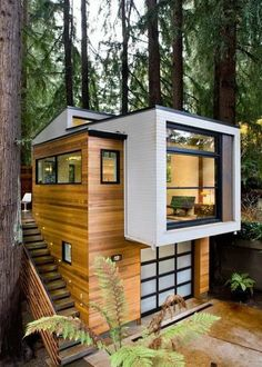 Awesome Modern Tiny House Exterior Design Ideas - There are singles, couples and even families who are opting to live in tiny homes and spend most of their lives traveling and exploring new places. Cabin Design, Tiny House Design, Modern House Design, Home Design, Design Ideas, Design Inspiration, Modern Tiny House, Tiny House Cabin, Tiny House Living
