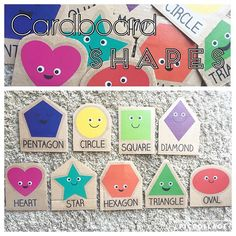 Cardboard Shapes {Just like my previous post about the crayons, these are wall clings that I put into cardboard so we can do activities with them!} #TargetFind #shapes #kidactivities #shapeactivity #shapegame #toddleractivity #toddershapes #toddleractivity #todderactivities