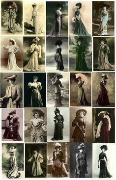 Vintage Images of 1900-1909 Fall Daywear Fashions from E-vint.com Everything Vintage Copyright, Royalty Free