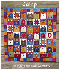 PDF  CatNip  PDF Quilt Pattern E by TheRedBootQuiltCo on Etsy, $8.00