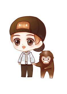 Lu Han 鹿晗 || [ LuFanart ] 170220 Lu Han with a Orangutan Keep Going (Running Man China )Series5 Recording in Xiaoshan Hangzhou