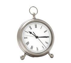 Pocket Watch Clock, Medium, Pewter finish