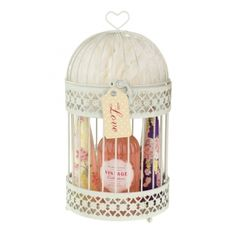 A toiletry set & a birdcage for decoration after - 2 in 1 present for mum's this Mother's Day...   Heathcote & Ivory Mimosa and Pomegranate Bird Cage & Toiletry Gift Set  ---  Quick Info: Price £22.00  Our Mimosa and Pomegranate Bird Cage and Toiletry Gift Set makes a fantastic Christmas gift idea for her.  ---  Available from Roman at Home.  Images Copyright www.romanathome.com