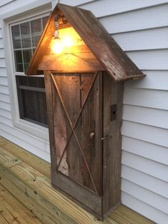great way to hide your electric meter on your patio.