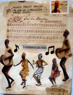 Mail art by Hania Destelle pour Agnès