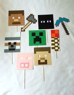 Hey, I found this really awesome Etsy listing at https://www.etsy.com/listing/241501840/9-piece-minecraft-photo-booth-set