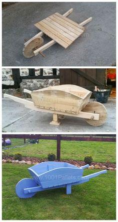 Поддон тачку использовать как кашпо и украшения для сада
