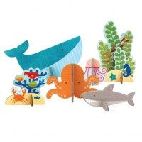 Petit Collage Ocean Pop-out and Play Cardboard Design, Diy Cardboard, Diy Crafts For Kids, Gifts For Kids, Paper Art, Paper Crafts, Origami Fish, Pop Out, Baby Art