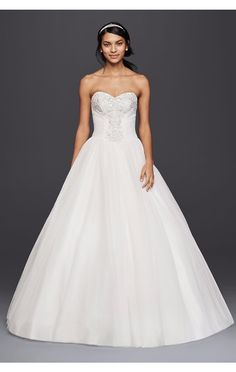 WG3804 Hot Sale Strapless Sweetheart Tulle Ball Gown Bridal Dresses