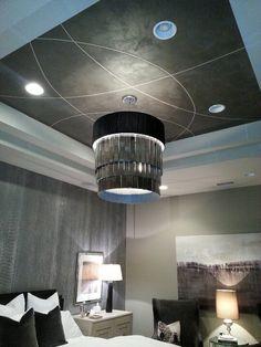 Metallic plaster ceiling by M & M Bender Designer Wall Finishes