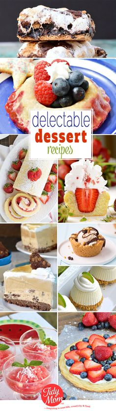 From juicy summer berries and ice cream pie to S'mores brownies, you'll want to dive right in and end your next meal with one of these Delectable Dessert recipes at TidyMom.net