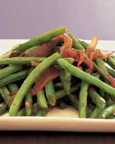 Sauteed Green Beans and Red Onion Recipe