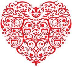 Stylized Heart Royalty Free Stock Vector Art Illustration