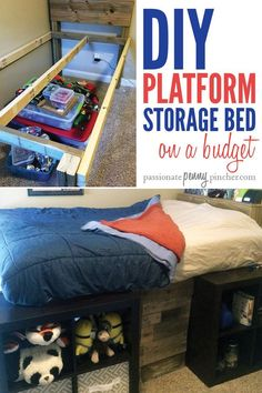 DIY Platform Storage Bed On A Budget | Weekend Project | Passionate Penny Pincher