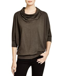 Velvet by Graham & Spencer Cowl Neck Batwing Top