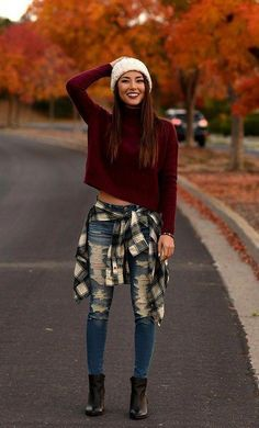 Urban Fashion Trends For Today Winter Mode Outfits, Cute Fall Outfits, Outfits For Teens, Winter Outfits For Teen Girls Cold, Plaid Fashion, Winter Fashion Outfits, Teen Fashion, Simply Fashion, Fashion 2016