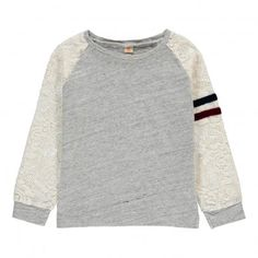 Vali Lace Sleeve T-Shirt Heather grey  Bellerose