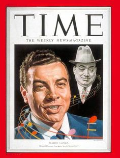 Mario Lanza and Enrico Caruso on Time Magazine cover (August 6, 1951)