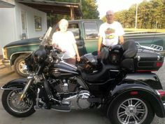 Joan and Bill. New Tri glide. RIP BILL Motorcycle, Bike, Vehicles, Decor, Bicycle, Decoration, Motorcycles, Bicycles, Car