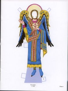 Angel Paper Dolls by Tom Tierney with glitter plate #6