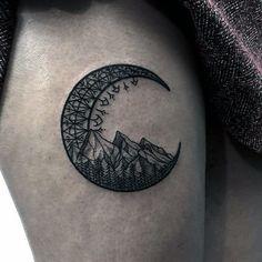 moon tattoo illustration  ile ilgili görsel sonucu