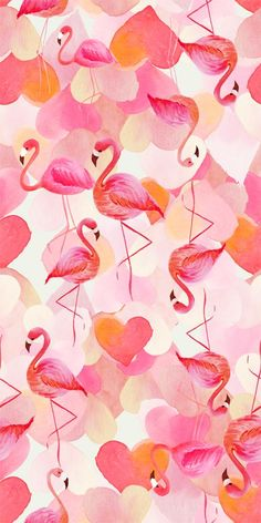 Flamingo and Hearts wallpaper Flamingo Art, Pink Flamingos, Flamingo Pattern, Pink Flamingo Wallpaper, Kawaii Wallpaper, Cute Wallpapers, Wallpaper Backgrounds, Vintage Wallpapers, Desktop Backgrounds