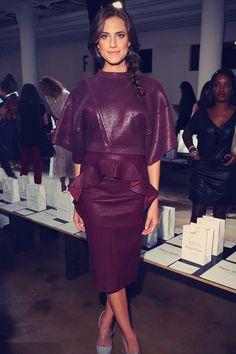 Allison Williams at Mercedes-Benz Fashion Week
