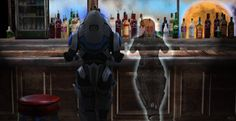 Mass effect : meet me at the bar by CaxceberXVI.deviantart.com on @deviantART... Aw :')