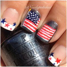 4th of July or Memorial Day by  newlypolished  #nail #nails #nailart