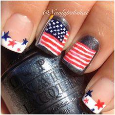 4th of July or Memorial Day by  newlypolished  #nail #nails #nailart