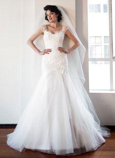 Romantic Wedding Dress by Anna Schimmel | New Zealand