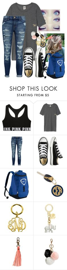 """""""soooo ready for school !"""" by alli-michelle537 ❤ liked on Polyvore featuring Current/Elliott, Converse, Hartford, Kate Spade, Anuschka, GUESS and Edie Parker"""