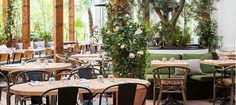 Le nouveau rooftop de la Brasserie d'Auteuil qui a doublé de surface ! L'occasion pour Laura Gonzalez de transformer les lieux en maison de vacances toscane aux allures des plus belles villas de Forte Dei marmi. Végétation sublime,  imprimés wahou, fauteuil en rotin, bar extérieur splendide : bref, sans aucun doute la terrasse qui a le plus d'allure à Paris.
