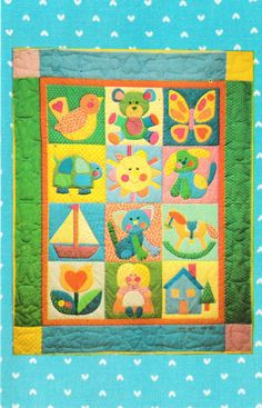 PATTERN ONLY, NOT A FINISHED QUILT. This wall hanging or quilt would be so wonderful in any childs room. Such a charming vintage style! This is a unused PATTERN to make this cute appliqué wall hanging, pillow or quilt. The packet contains 20 FULL SIZE PATTERNS to make your wall hanging or baby quilt. The block size is 12 inches (30.48 cm) each. You will be getting a packet that contains about 20 different full size patterns and instructions, so, lots of pages. The finished size will depend…